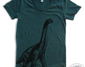 Womens DINOSAUR vintage soft american apparel T Shirt S M L XL (16 Colors Available)
