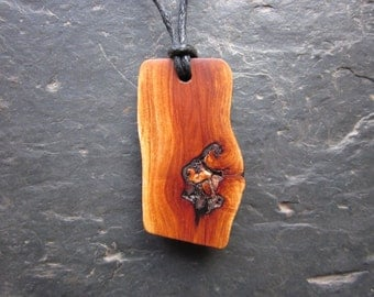 Unique Natural Wood Pendant - Apple - for Fertility and Abundance.