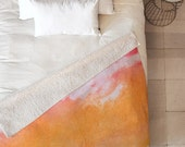 Tangerine Tie Dye Sherpa Throw Blanket