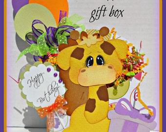 Birthday Scrapbook Premade Handmade Gift Box Elite4u