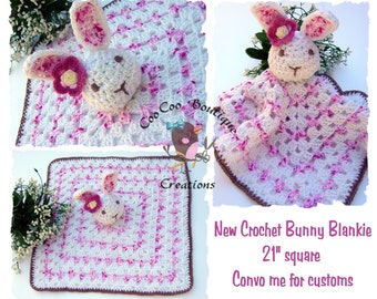 Crochet Bunny Blanke Custom Made for you
