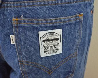 on sale Vintage LEVI'S WHITE LABEL denim blue jeans white tab size 31 / 6 usa