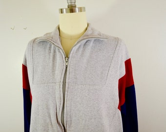 last chance Vintage FRED PERRY Sweatshirt zip up size large older