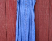 Courtney - vintage 90's denim dress M L