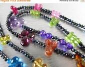 BIGGEST SALE EVER Long Multi Gemstone And Spinel Necklace or Bracelet