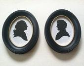 George Washington and Abraham Lincoln Hand Cut Silhouette Set