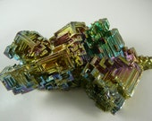 Amazing Large Bismuth Crystal #2 ~ Rainbow, Metaphysical,  Healing Crystal, Psychedelic, Fractals, Iridescent, Meditation, Unique, Hippie