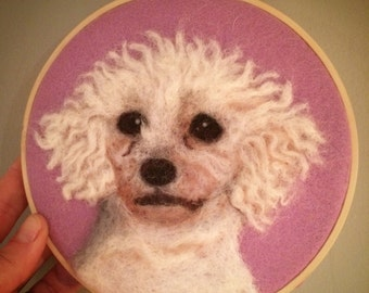 "6"" Custom Pet Portrait / Pet lover / Animal lover / Unique / Home decor / Wall Art / Wall Hanging"