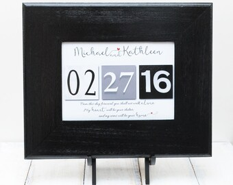 Bridal shower gift , Couples gift , Parent Thank you gift , Wedding Date Gift , Anniversary Present , Frame Your Date , Bridesmaid gifts