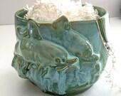 Dolphin Yarn Bowl - Knitting Bowl -  Knitting Storage - Mother's day gift