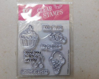 New in Package Birthday Themed Clear Mini Stamp Set
