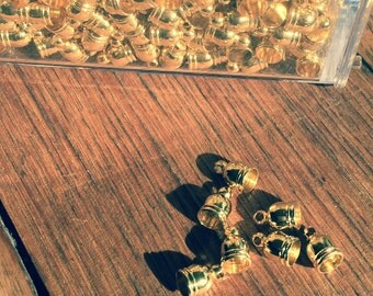 Gold Plated Brass End Caps Cord Ends 9mm x 6mm