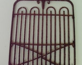 RUSTY Fairy Garden Gate trellis - accessory supply for miniature fairy garden or mixed media assemblage  9 inches