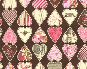 Kissing Booth 1 &1/ 2 Yard Remnant 30312-17 Brown