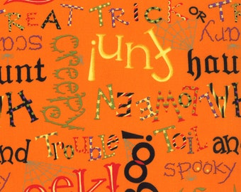 Happy Howloween 1 & 1/4 yard Remnant 19551-12 Orange