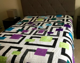 In the Neighborhood Queen Quilt Made To Order