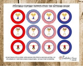 INSTANT DOWNLOAD - PRINTABLE Party Rounds - Gym Girls Gymnastics Cupcake Toppers by The Birthday House