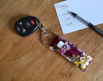 Chapstick Holder, Lip Balm Holder, Chapstick Keychain