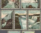 9 Niagara Falls, New York Vintage Postcards - Birch Bark Border (Unused)