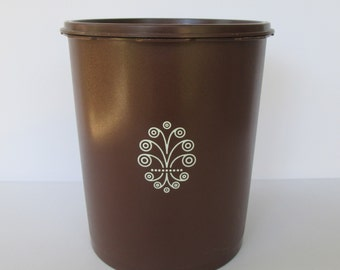 Large Brown Tupperware Container