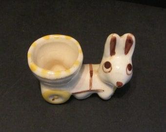 Easter Bunny Egg Cart  Vintage 30's Egg Cup