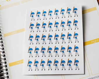 40 Baseball Players Planner Stickers Fits Erin Condren Planner, Plum Paper and more