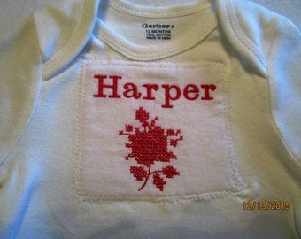 Personalized onesie for a baby that wants to look extra cute!