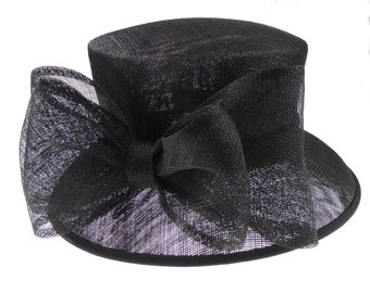 Black Hat for Weddings, Races, Melbourne Cup,Ascot,Kentucky Derby