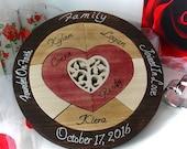 Custom Designed Tree of Life Unity Ceremony Wedding Puzzle Unity Ceremony Alternative  Personalized Blended Family Wedding Gift