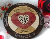 Custom Designed Unity Ceremony Wedding Puzzle Unity Ceremony Alternative  Personalized Blended Family Wedding Gift Custom Anniversary Gift