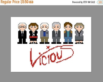 SALE Vicious Pixel People Cross Stitch Pattern PDF ONLY