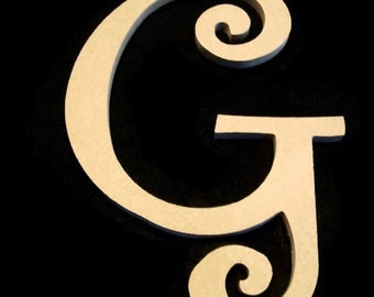 16 Inch  Unfinished Letters, With Keyhole, You pick the letter/ font,    -4