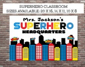 Superhero Classroom, Teacher Appreciation Gift,Teacher Gifts, Superhero Teacher,DIY PRINTABLE,Superhero Teacher Print, Superhero Class