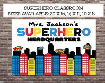 Superhero Classroom, Teacher Appreciation Gift,Teacher Gifts, Superhero Teacher, DIGITAL,YOU PRINT, Superhero Teacher Print, Superhero Class