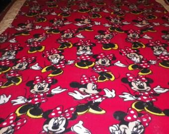 Minnie Mouse Fleece Throw Blanket