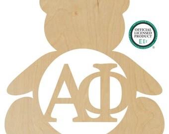 Alpha Phi Bear Wall Hanger - Alpha Phi Door Hanger