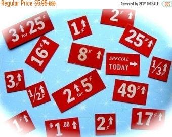 BIG SALE Antique Vintage Lot Price Tags  Tickets ONE Dozen