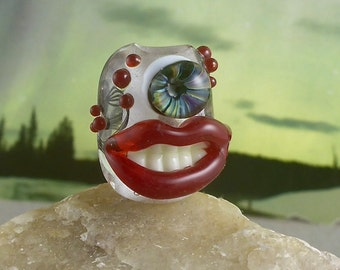Invisible one eyed monster dread bead