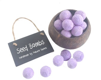 Flower & Herb Seed Bomb Party Favors - Wedding Favors, Kids Birthday Party Favors - Lavender Seed Bombs handmade in the USA by Nature Favors