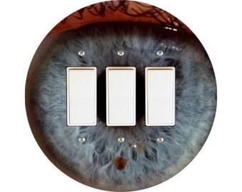 Eye Ball Triple Decora Rocker Switch Plate Cover