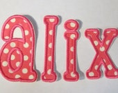 Applique Letters  - Iron On or Sew On Embroidered Letters - **This Listing Has Changed