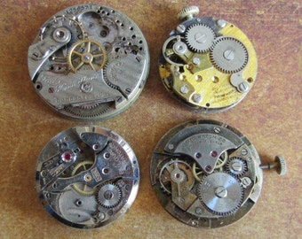 Featured - Steampunk supplies - Watch movements - Vintage Antiqueki Watch movements Steampunk - Scrapboong x9