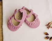 FARRAH Baby Girl Shoes...moccasin style suede
