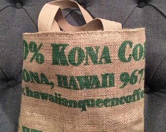 Girls Burlap Tote/ Market Bag/ Burlap Coffee Sack