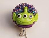 Toy Story Alien ID Badge Reel - Retractable ID Badge Holder - Zipperedheart