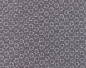 YEAR END SALE - 2 3/8 yards - First Crush - Circle of Love in Concrete Gray - 5606-26 by Sweetwater for Moda Fabrics