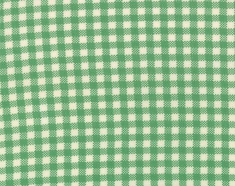 WINTER SALE - 4 1/8 Yards - Quilt Backing Cut - April Showers - Gingham in Emerald - SKU 55085 14 - by Bonnie and Camille for Moda Fabrics