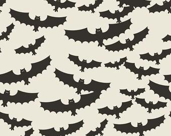 CHRISTMAS IN JULY Sale - 5 yards - Quilt Backing Cut - C5120-Cream Main Bats - Jen Allyson - Riley Blake Designs - My Mind's Eye