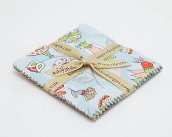 SUMMER SALE - 42 squares - 5 inch stacker - Dutch Treat - Betz White - Riley Blake Designs