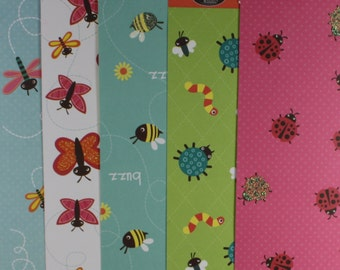 The Paper Company - Bugs & Butterflies Buzzing Bees - 12 x 12 -  Scrapbooking Paper - 7 Sheets